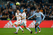 Olympique de Marseille's French forward Valere Germain controls the ball during the French Championship Ligue 1 football match between Olympique de Marseille and AS Monaco on January 28, 2018 at the Orange Velodrome stadium in Marseille, France - Photo Benjamin Cremel / ProSportsImages / DPPI