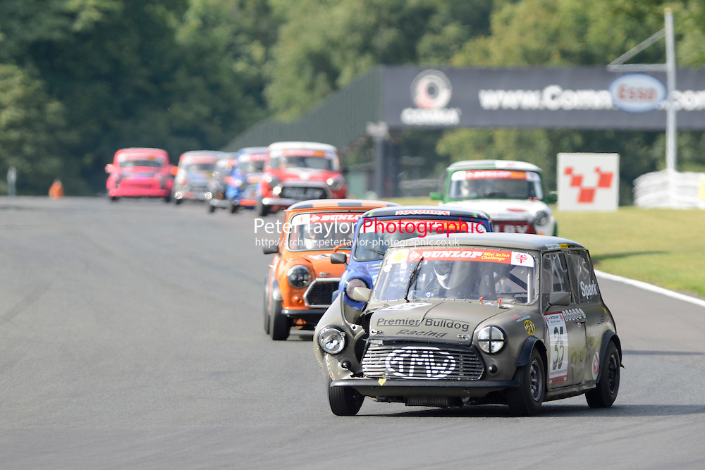 #35 Paul Spark Mini 7 during Mini Se7en - Race 2 as part of the Mini Festival  at Oulton Park, Little Budworth, Cheshire, United Kingdom. August 08 2015. World Copyright Taylor/PSP. Copy of publication required for printed pictures.  Every used picture is fee-liable. http://archive.petertaylor-photographic.co.uk