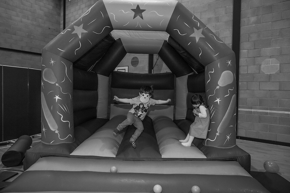 Joe jumps on a bouncy castle during a toddlers party in Berkhamsted, England  Sunday, April 10, 2016 (Elizabeth Dalziel) #thesecretlifeofmothers #bringinguptheboys #dailylife