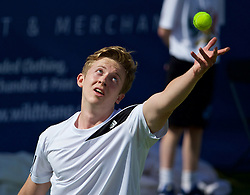 LIVERPOOL, ENGLAND - Thursday, June 18, 2015: Jacob Whalley (GBR) during Day 1 of the Liverpool Hope University International Tennis Tournament at Liverpool Cricket Club. (Pic by David Rawcliffe/Propaganda)