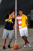 Fifa Brazil 2013 Confederation Cup / <br /> Brazil National Team - ( Sao Conrado Beach - Rio de Janeiro , Brazil ) -<br /> Thiago Silva ( Right ) and David Luiz ( Left ) player of Brazil - Interview