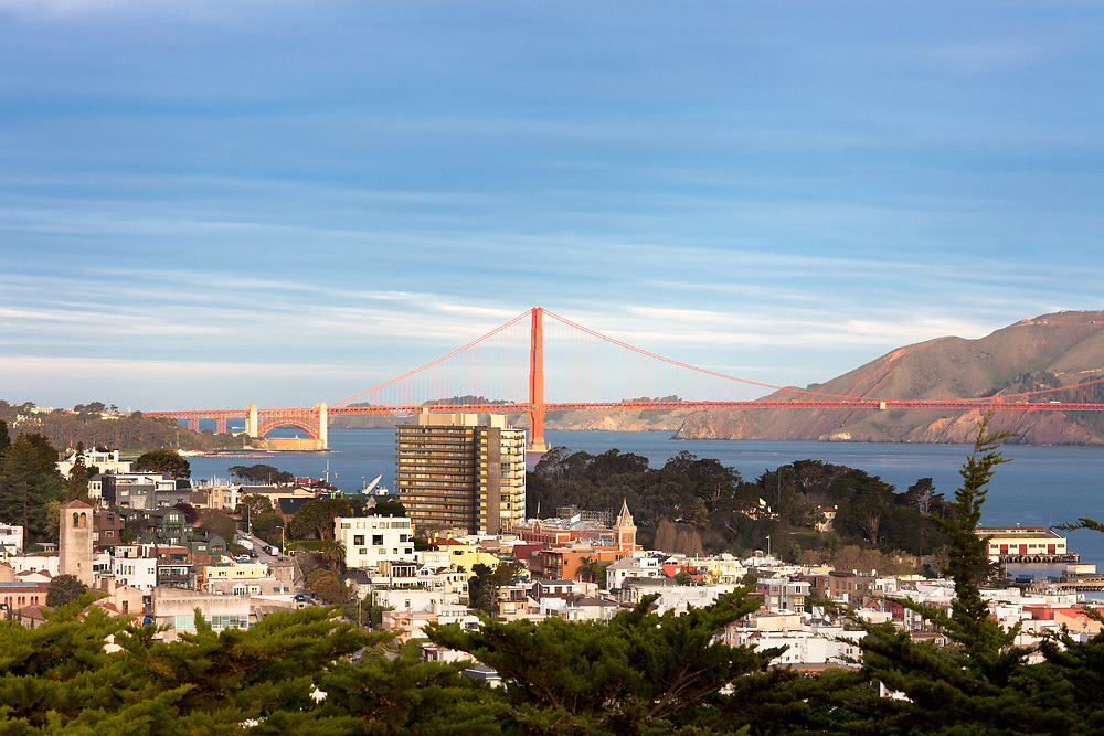 Golden Gate Bridge and Northern side of the city, San Francisco, California, USA