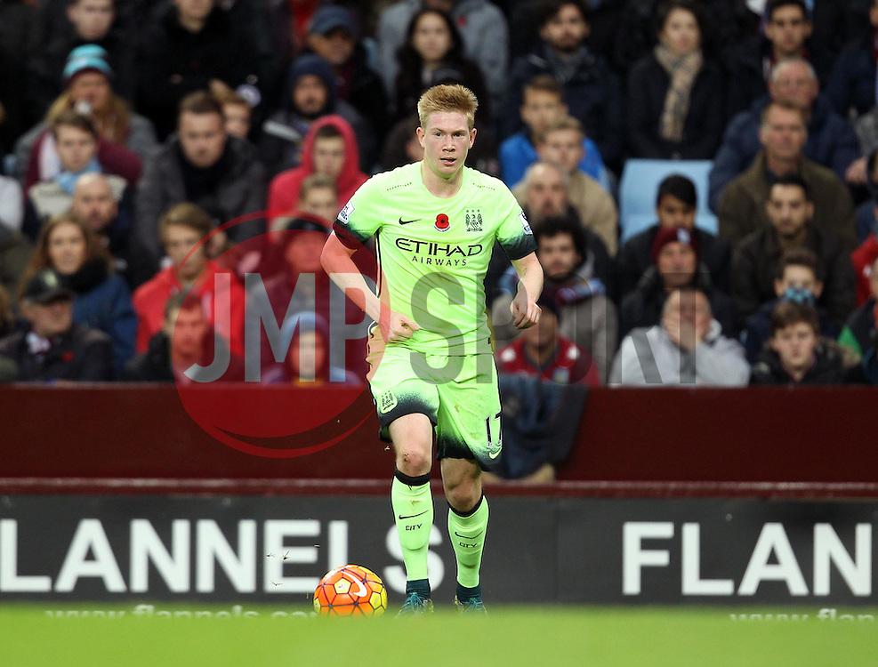 Manchester City's Kevin De Bruyne - Mandatory byline: Robbie Stephenson/JMP - 07966 386802 - 08/11/2015 - FOOTBALL - Villa Park - Birmingham, England - Aston Villa v Manchester City - Barclays Premier League
