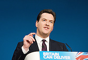 Conservative Party Conference, ICC, Birmingham, Great Britain <br /> Day 2<br /> 8th October 2012 <br /> <br /> Rt Hon George Osborne MP <br /> <br /> Chancellor of the Exchequer keynote speech <br /> <br /> <br /> Photograph by Elliott Franks<br /> <br /> <br /> Tel 07802 537 220 <br /> elliott@elliottfranks.com<br /> <br /> ©2012 Elliott Franks<br /> Agency space rates apply