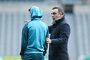 Swansea City manager Carlos Carvalhal arrives ahead of the Premier League match between Newcastle United and Swansea City at St. James's Park, Newcastle, England on 13 January 2018. Photo by Craig Doyle.