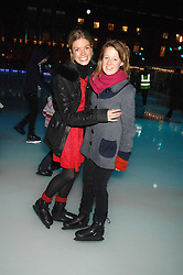 Left to right, ISABELLA ANSTRUTHER-GOUGH-CALTHORPE and LAURA FELLOWES at a Winter Party to celebrate the opening of the Ice Rink at Somerset House, London in association with jewellers Tiffany on 20th November 2007.<br />