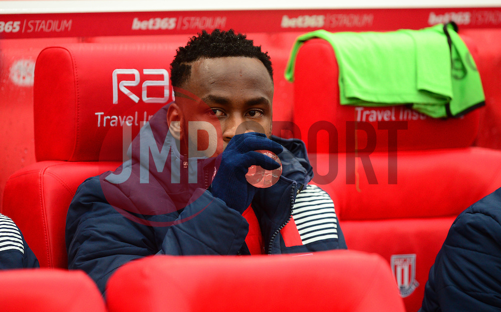 Saido Berahino of Stoke City starts on the bench for stoke.- Mandatory by-line: Alex James/JMP - 11/02/2017 - FOOTBALL - Bet365 Stadium - Stoke-on-Trent, England - Stoke City v Crystal Palace - Premier League