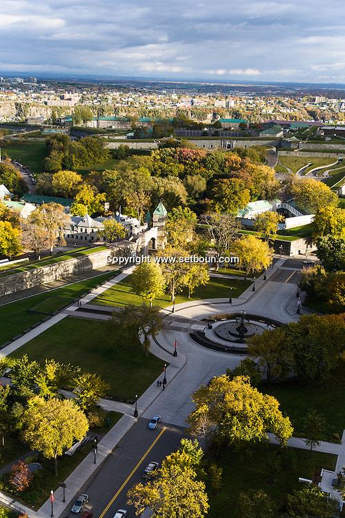 Canada. Quebec. general and aerial view of the city. the old city and the Saint Laurent river   / vue generale et aerienne de la ville. la vielle ville et le fleuve Saint Laurent