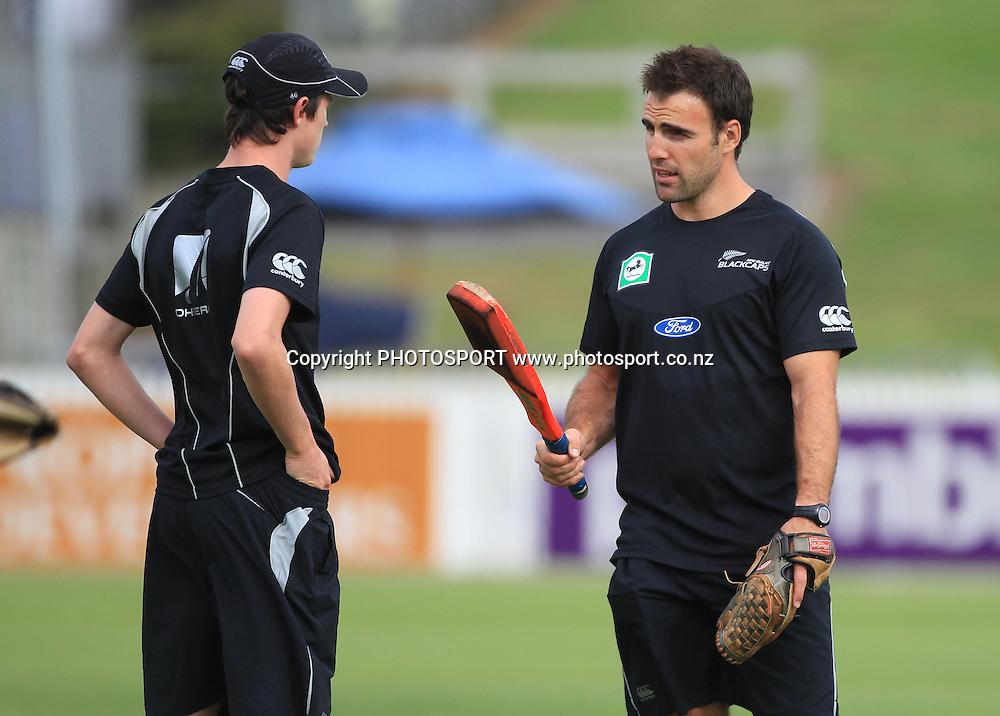 Fitness trainer Bryan Stronach. New Zealand Black Caps v Pakistan, Match 2. Twenty 20 Cricket match at Seddon Park, Hamilton, New Zealand. Tuesday 28 December 2010. Photo: Andrew Cornaga/photosport.co.nz