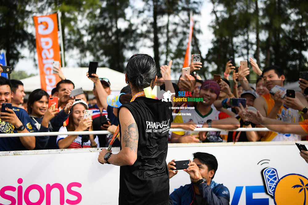 PHUKET,PHUKET, PHUKET, THAILAND - JUNE 10: Athiwara Khongmalai also known as Toon Bodyslam greeting the spectators at the finish line during the 13th Laguna Phuket Marathon 2018, Phuket, Thailand on June 10, 2018. <br /> <br /> (Photo by: Naratip Golf Srisupab/SEALs Sports Images)<br /> <br /> Any image use must include a mandatory credit line adjacent to the content which should read: Naratip Golf Srisupab/SEALs Sports Images