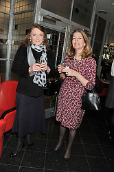 Left to right, LEONORA, COUNTESS OF LICHFIELD and CAROLINE GARVEY at a ladies lunch in support of Maggie's Barts hosted by Judy Naake, Clara Weatherall and Caroline Collins at Le Cafe Anglais, 8 Porchester Gardens, London W2 on 19th March 2013.