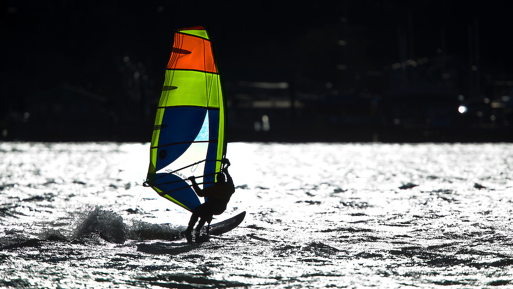 Windsurfers at Sandy Hook.