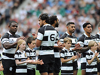 Rugby Union - 2019 Quilter Cup - England XV vs. Barbarians<br /> <br /> Steven Luatua of the Barbarians turns to the crowd during a minutes applause for Micky Steele- Bodger who's number was 66. Alex Dombrandt did the same for England, at Twickenham.<br /> <br /> COLORSPORT/ANDREW COWIE