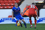 GOAL Ethan Hamilton is about to shoot and score for Rochdale 1-2 during the EFL Sky Bet League 1 match between Walsall and Rochdale at the Banks's Stadium, Walsall, England on 2 February 2019.