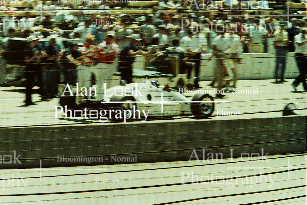 Indianapolis Time Trials, May 1987<br /> #2 - Gordon Johncock<br /> <br /> A scan from an old photo or slide from the collection of Alan and Becky Look dated 1987 and 1988.