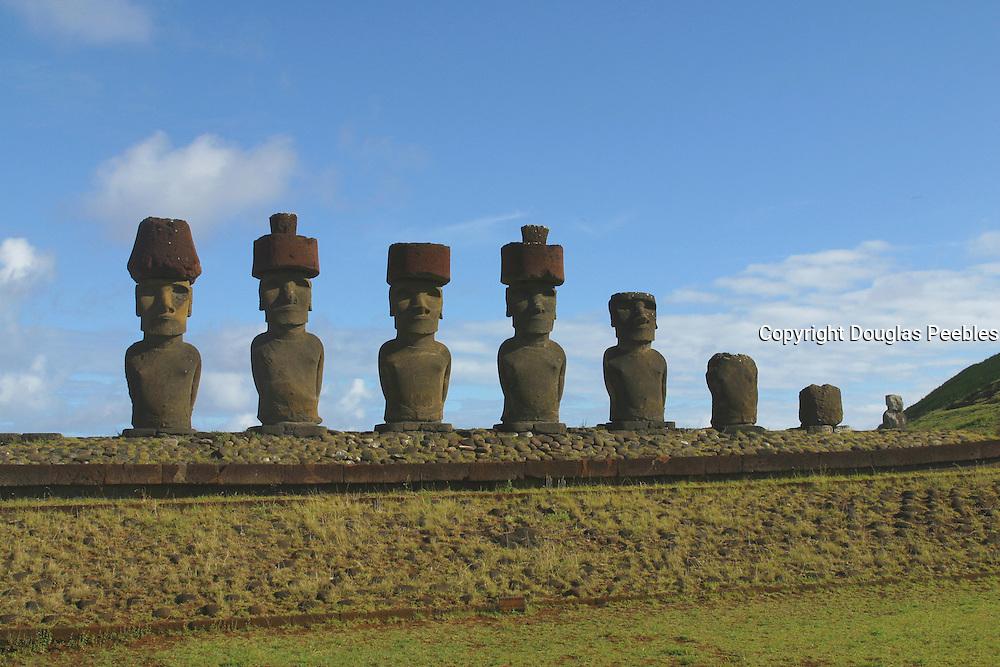 Ahu (platform)Nau Nau, Easter Island (Rapa Nui), Chile<br />