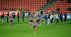 Bristol Rugby players emerge from the tunnel at Ashton Gate Stadium - Mandatory by-line: Paul Knight/JMP - 14/10/2016 - RUGBY - Ashton Gate Stadium - Bristol, England - Bristol Rugby v Cardiff Blues - European Challenge Cup