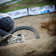 BRIGHTON - JUNE - A mountain bike rider races down the dual slalom course at Mt Brighton. (photo by Bryan Mitchell)
