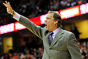 Feb. 13, 2011; Cleveland, OH, USA; Washington Wizards head coach Flip Saunders during the second quarter against the Cleveland Cavaliers at Quicken Loans Arena. Mandatory Credit: Jason Miller-US PRESSWIRE