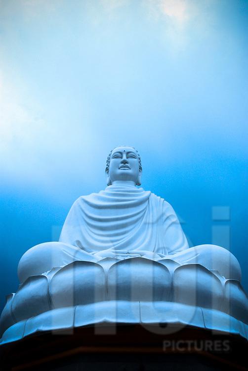 Statue of the white buddha of Nha Trang, Vietnam, Southeast Asia