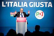 2013/02/07 Roma, manifestazione ' Le parole dell'Italia giusta ' promossa dal PD. Nella foto Pier Luigi Bersani.Meeting ' Words of the right Italy ' promoted by Democratic Party. In the picture Pier Luigi Bersani