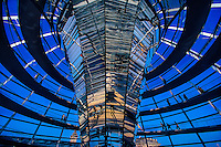 Reichstagskuppel (Glass dome on top of the Bundestag Building), Berlin, Germany