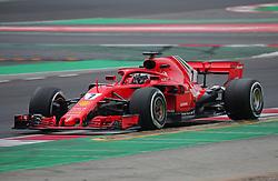 February 26, 2018 - Barcelona, Catalonia, Spain - the Ferrari of Kimi Raikkonen during the tests at the Barcelona-Catalunya Circuit, on 26th February 2018 in Barcelona, Spain. (Credit Image: © Joan Valls/NurPhoto via ZUMA Press)