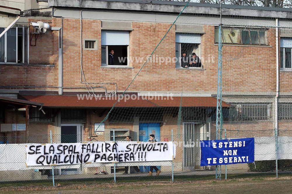 CONTESTAZIONI DEI TIFOSI AL CENTRO SPAL