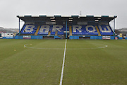 A wet Holker Street before  the Vanarama National League match between Barrow and Forest Green Rovers at Holker Street, Barrow, United Kingdom on 28 January 2017. Photo by Mark Pollitt.
