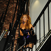 Dawn Lewis aka Peaches Mahoney backstage at The Music Hall
