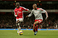 FA Premier League Arsenal v Liverpool 21/12/2008 Photo Patrick McCann/Fotosports International Arsenal's Bacary Sagna challenges for the ball with Liverpool's Ryan Babel, Emirates Stadium.