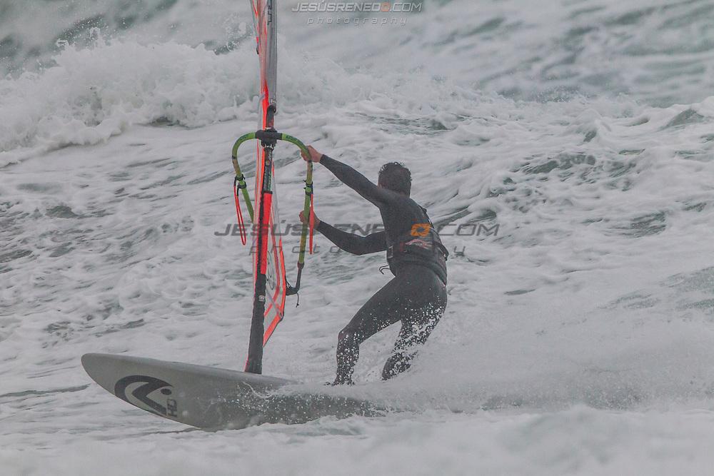 Windsurf November in north Palma de Mallorca