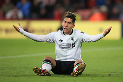 17 December 2017 -  Premier League - AFC Bournemouth v Liverpool - Roberto Firmino of Liverpool reacts to a foul - Photo: Marc Atkins/Offside