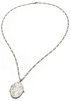 silver locket on a necklace