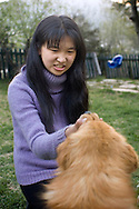 Girl And Dog<br />