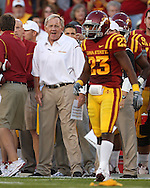 September 3, 2009: Iowa State defensive coordinator Wally Burnham yells instructions to his team during the first half of the Iowa State Cyclones' 34-17 win over the North Dakota State Bison at Jack Trice Stadium in Ames, Iowa on September 3, 2009.