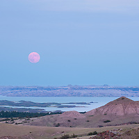 fort peck lake full moon rising montana