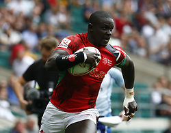 May 26, 2019 - Twickenham, England, United Kingdom - Andrew Amonde of Kenya.during The HSBC World Rugby Sevens Series 2019 London 7s Challenge Trophy Quarter Final Match 28 between Kenya and Scotland at Twickenham on 26 May 2019. (Credit Image: © Action Foto Sport/NurPhoto via ZUMA Press)