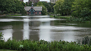 Harlem Meer and the Dana nature center in Central Park.