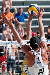 Helmut Moser of Austria at A1 Beach Volleyball Grand Slam tournament of Swatch FIVB World Tour 2011, on August 3, 2011 in Klagenfurt, Austria. (Photo by Matic Klansek Velej / Sportida)