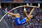 Konstadinos Filippidis (GRE) competes in Pole Vault Men during the European Championships 2018, at Olympic Stadium in Berlin, Germany, Day 6, on August 12, 2018 - Photo Julien Crosnier / KMSP / ProSportsImages / DPPI