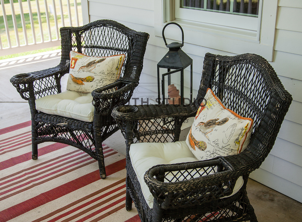 Ice Cream Social: Wicker chairs on porch