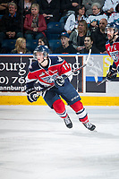 KELOWNA, CANADA - MARCH 28: Ty Comrie #11 of Tri-City Americans skates against the Kelowna Rockets on March 28, 2015 at Prospera Place in Kelowna, British Columbia, Canada.  (Photo by Marissa Baecker/Getty Images)  *** Local Caption *** Ty Comrie;
