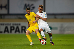 Agim Ibraimi of Domzale and Sandi Coralic of NK Rudar Velenje during football match between NK Domzale and NK Rudar in Round #2 of Prva liga Telekom Slovenije 2018/19, on April 29, 2018 in Sports Park Domzale, Domzale, Slovenia. Photo by Urban Urbanc / Sportida