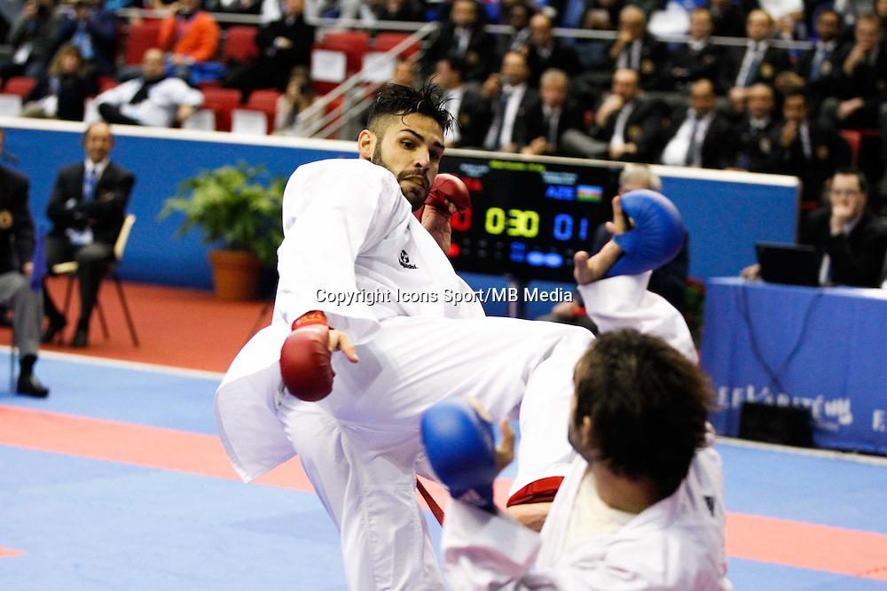 Luigi BUSA / Rafael AGHAYEV - 24.01.2015 - Open de Paris - Karate Premier League -<br />Photo : Johnny Fidelin / Icon Sport