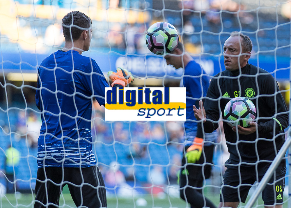 Football - 2016/2017 Premier League - Chelsea V West Ham United. <br /> <br /> Gianluca Spinelli, Chelsea's goalkeeping coach, at Stamford Bridge.<br /> <br /> COLORSPORT/DANIEL BEARHAM