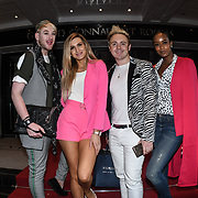 Lewis-Duncan weedon,Victoria Brown,John Galea,Annaliese  attend London Fashion Week Day 2, De Vere Grand Connaught Rooms, London, UK. 16 September 2018.