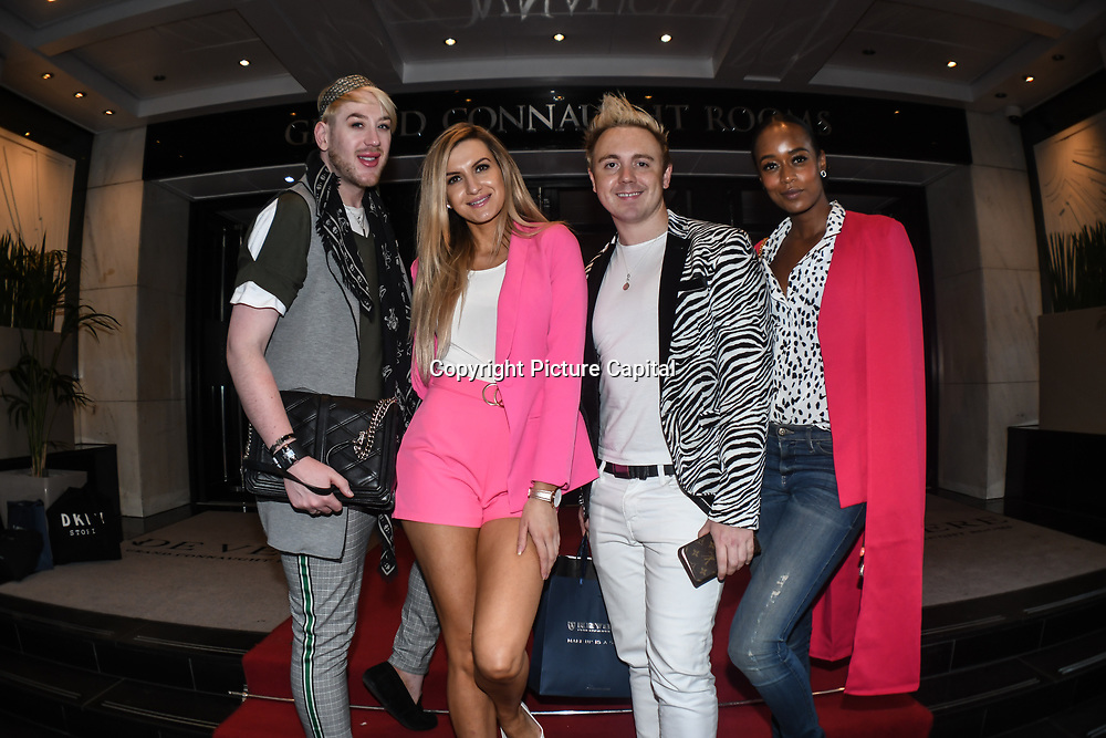 Lewis-Duncan weedon,Victoria Brown,John Galea,Annaliese  attend London Fashion Week Day 2, De Vere Grand Connaught Rooms, London, UK. 16 September 2018.