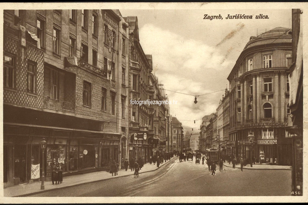 Zagreb : Jurišićeva ulica. <br /> <br /> ImpresumZagreb : Naklada S. Marković, 1927.<br /> Materijalni opis1 razglednica : tisak ; 8,7 x 13,7 cm.<br /> NakladnikNaklada S. Marković<br /> Mjesto izdavanjaZagreb<br /> Vrstavizualna građa • razglednice<br /> ZbirkaGrafička zbirka NSK • Zbirka razglednica<br /> Formatimage/jpeg<br /> PredmetZagreb –– Jurišićeva ulica<br /> SignaturaRZG-JURIS-9<br /> Obuhvat(vremenski)20. stoljeće<br /> NapomenaRazglednica je putovala.<br /> PravaJavno dobro<br /> Identifikatori000954859<br /> NBN.HRNBN: urn:nbn:hr:238:306935 <br /> <br /> Izvor: Digitalne zbirke Nacionalne i sveučilišne knjižnice u Zagrebu