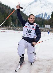 22.03.2014, Gschwandtkopf, Seefeld, AUT, 8. World Star Ski Event, Star Team for Children, Biathlon, im Bild Peter Fill (Vize Weltmeister Super-G) // during the Biathlon of Star Team for Children of 8th World Star Ski Event at the Gschwandtkopf course in Seefeld, Austria on 2014/03/22. EXPA Pictures © 2014, PhotoCredit: EXPA/ Johann Groder
